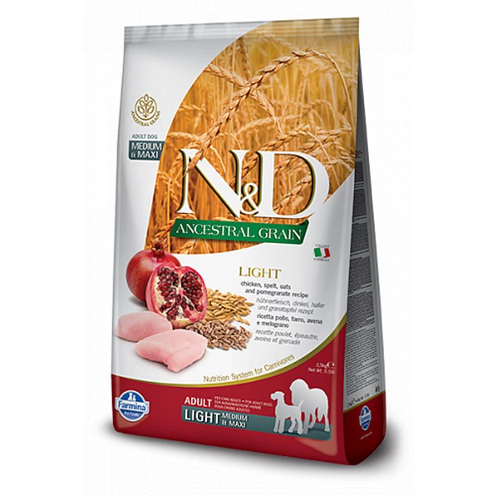 N&D (Farmina Pet Foods) N&D LG DOG Light M/L Chicken&Pomegranate 2,5kg
