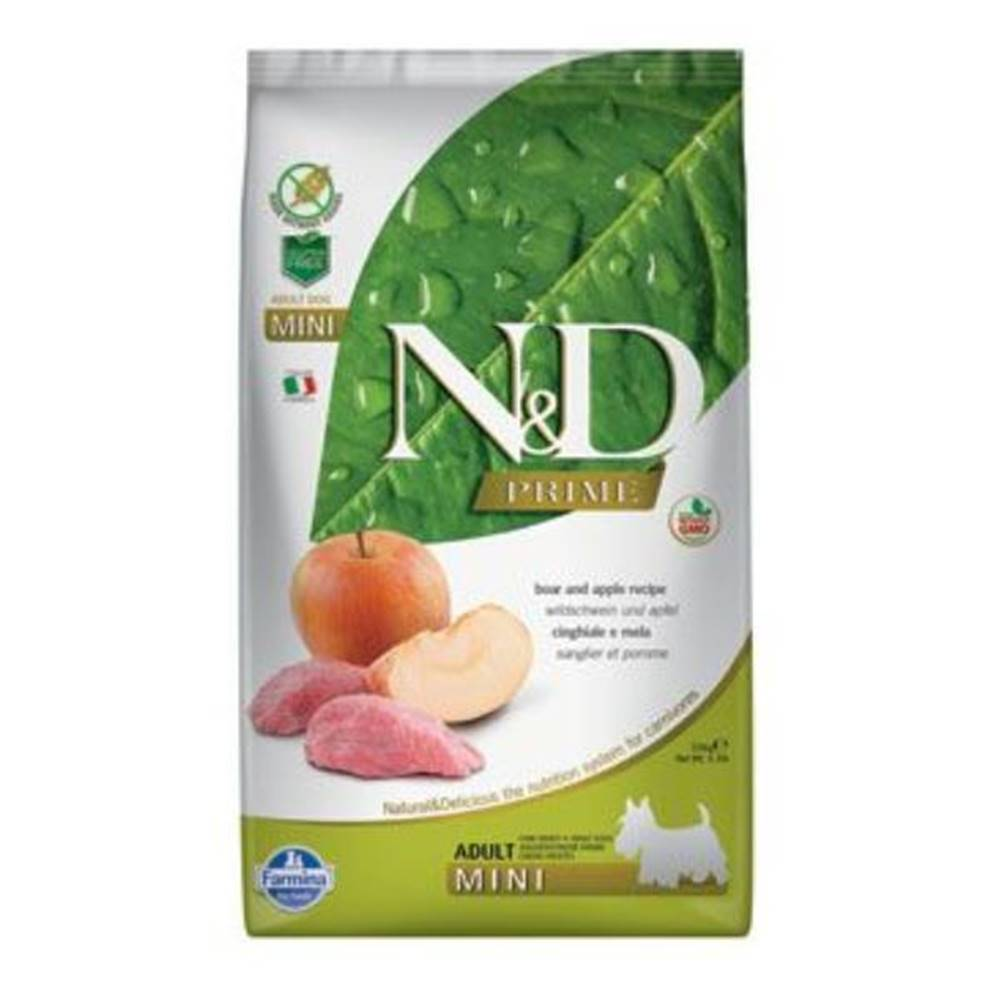 N&D (Farmina Pet Foods) N&D PRIME DOG Adult Mini Boar & Apple 2,5kg