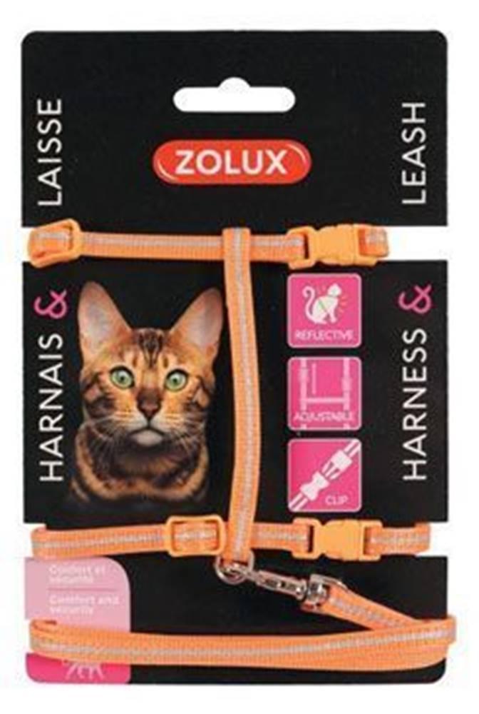 Zolux Postroj mačka s vodítkom 1,2m oranžový Zolux