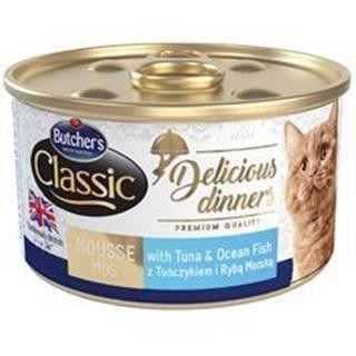 Butcher 's Cat Class.Delic.Dinners tuniak + ryby konz85g