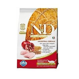 N&D Low Grain CAT Neutered Chicken & Pomegranate 5kg