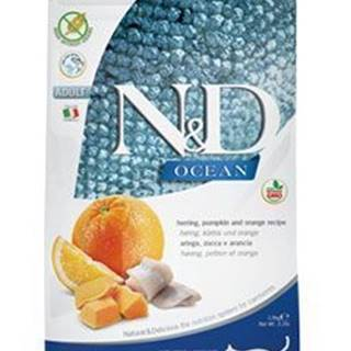 N&D OCEAN CAT GF Adult Herring, Pumpkin & Orange 1,5kg