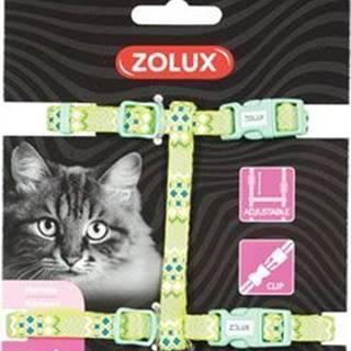 Postroj mačka ETHNIC nylon zelený Zolux