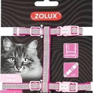 Postroj mačka SHINY nylon ružový Zolux