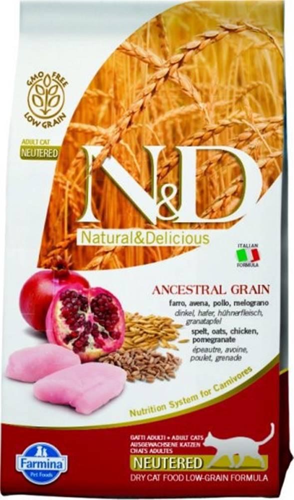 N&D N&D Low Grain CAT Neutered Chicken & Pomegranate 10kg