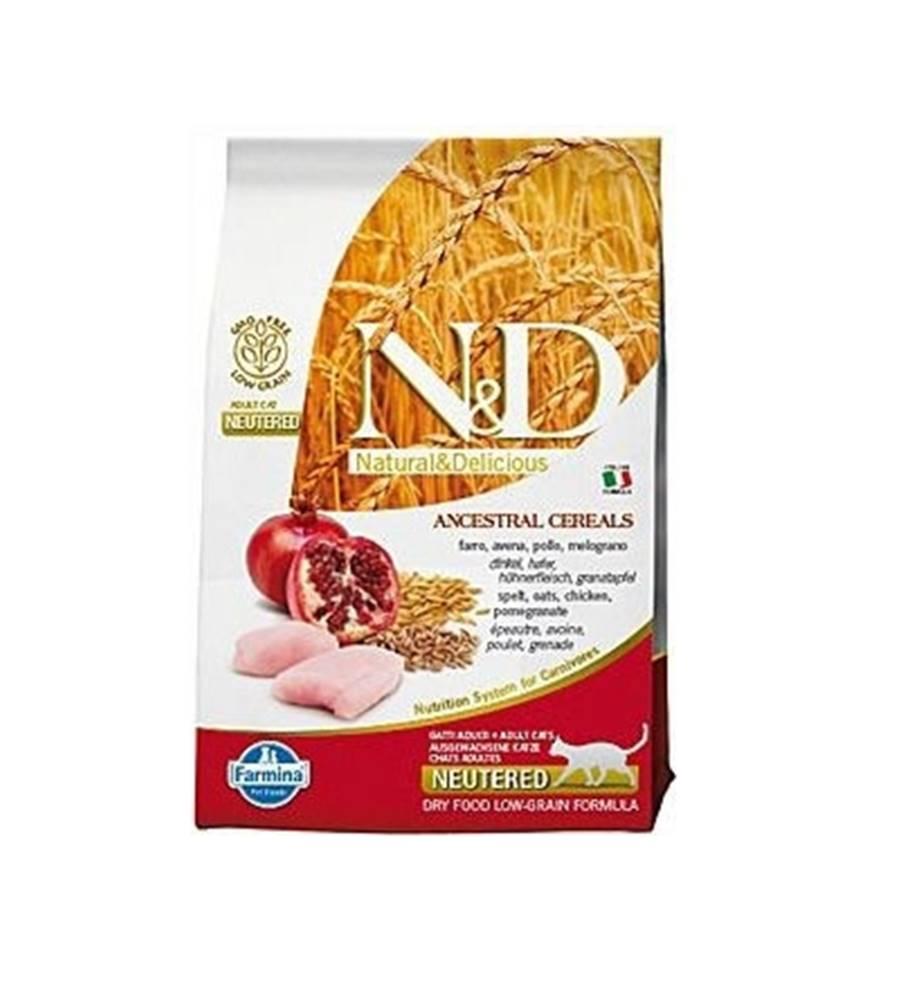 N&D N&D Low Grain CAT Neutered Chicken & Pomegranate 5kg