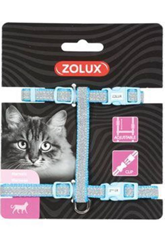 Zolux Postroj mačka SHINY nylon modrý Zolux