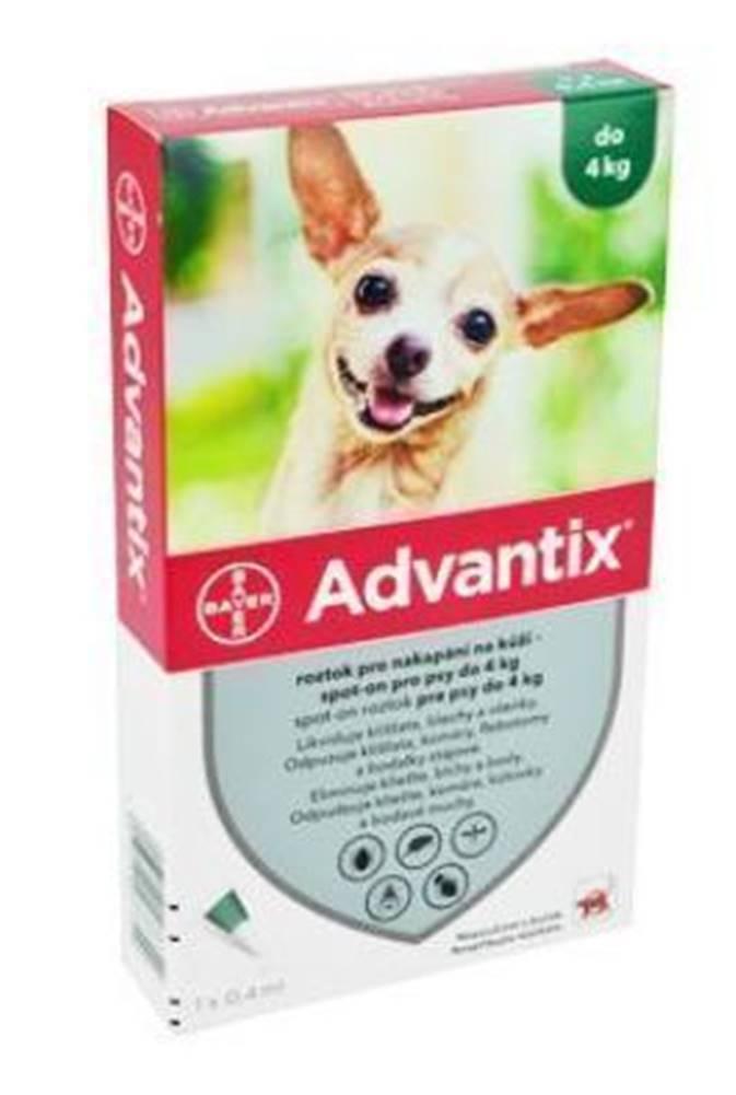 Advantix Advantix Spot On 1x0,4ml pre psov do 4kg (1 pipeta)
