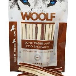 WOOLF pochoutka soft Rabbit&Pollock sandwich LONG 100g