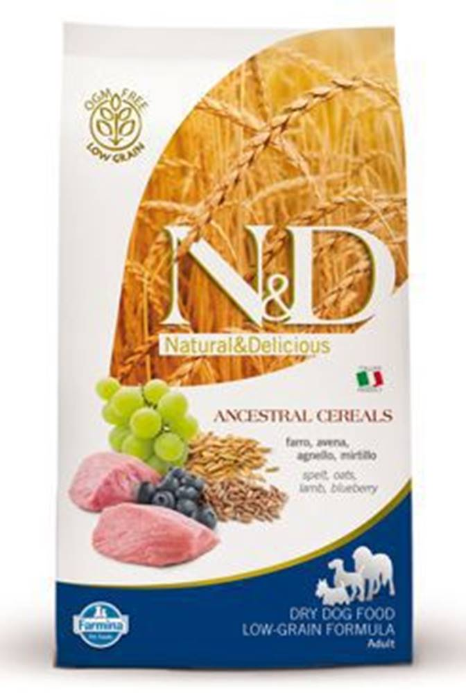 N&D N&D Low Grain DOG Adult Mini Lamb & Blueberry 800g