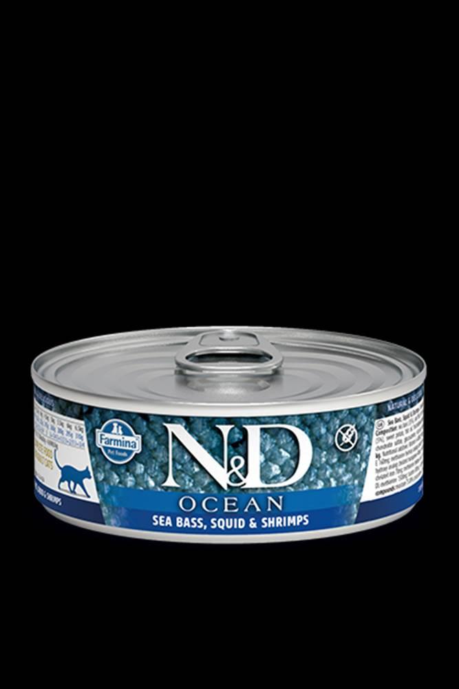 N&D (Farmina Pet Foods) N&D GF CAT OCEAN Adult Sea Bass & Squid & Shrimps 80g