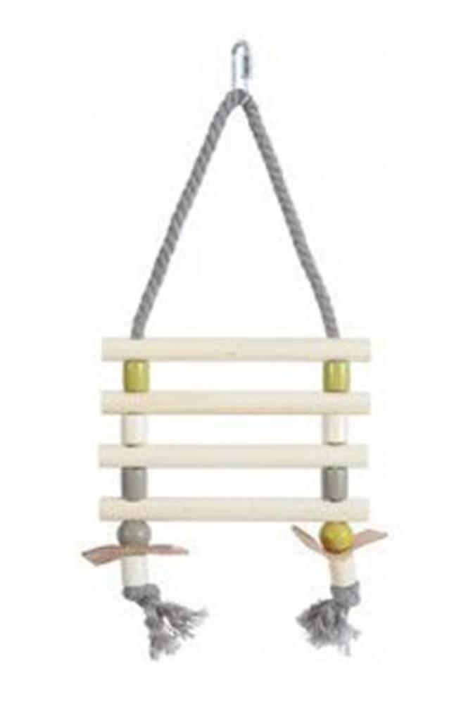 Zolux Žebřík pro ptáky provazový dřevěné příčky 31cm Zolux