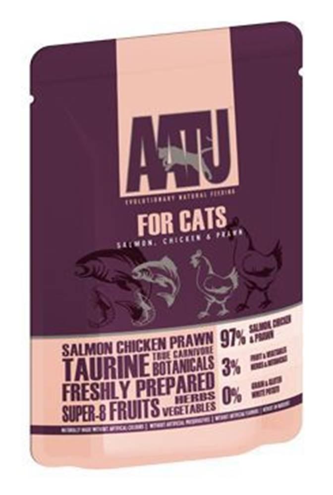 AATU AATU Cat Salmon n Chicken n Prawn kaps. 85g