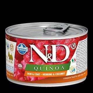 N&D DOG QUINOA Herring & Coconut Mini 140g