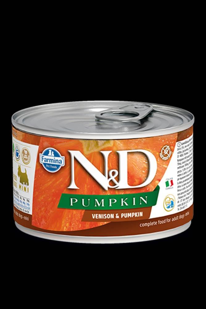 N&D (Farmina Pet Foods) N&D DOG PUMPKIN Adult Venison & Pumpkin Mini 140g