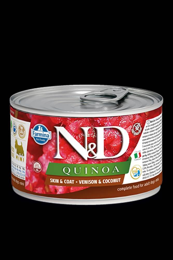 N&D (Farmina Pet Foods) N&D DOG QUINOA Venison & Coconut Mini 140g