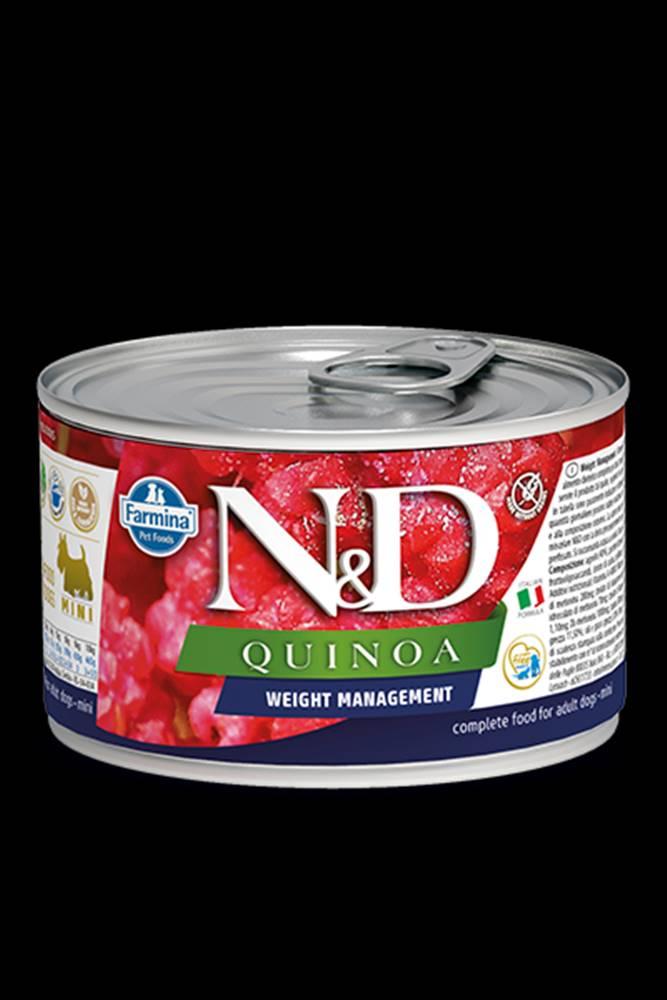 N&D (Farmina Pet Foods) N&D DOG QUINOA Weight Mnmgmt Lamb & Brocolli Mini 140g