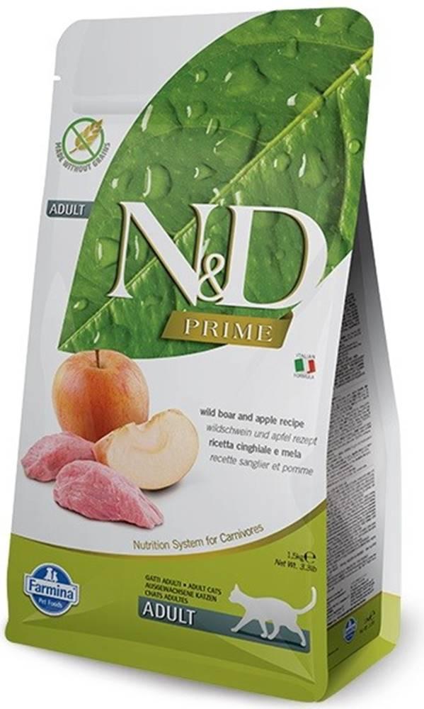 N&D (Farmina Pet Foods) N&D PRIME CAT Adult Boar & Apple 5kg