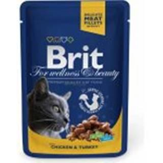 Brit Premium Cat kapsa with Chicken & Turkey 100g