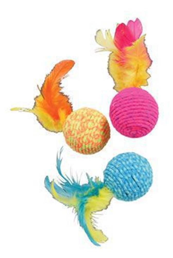 Zolux Hračka kočka Elastic Ball mix barev Zolux