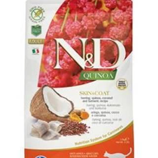 N&D GF Quinoa CAT Skin&Coat Herring & Coconut 1,5kg