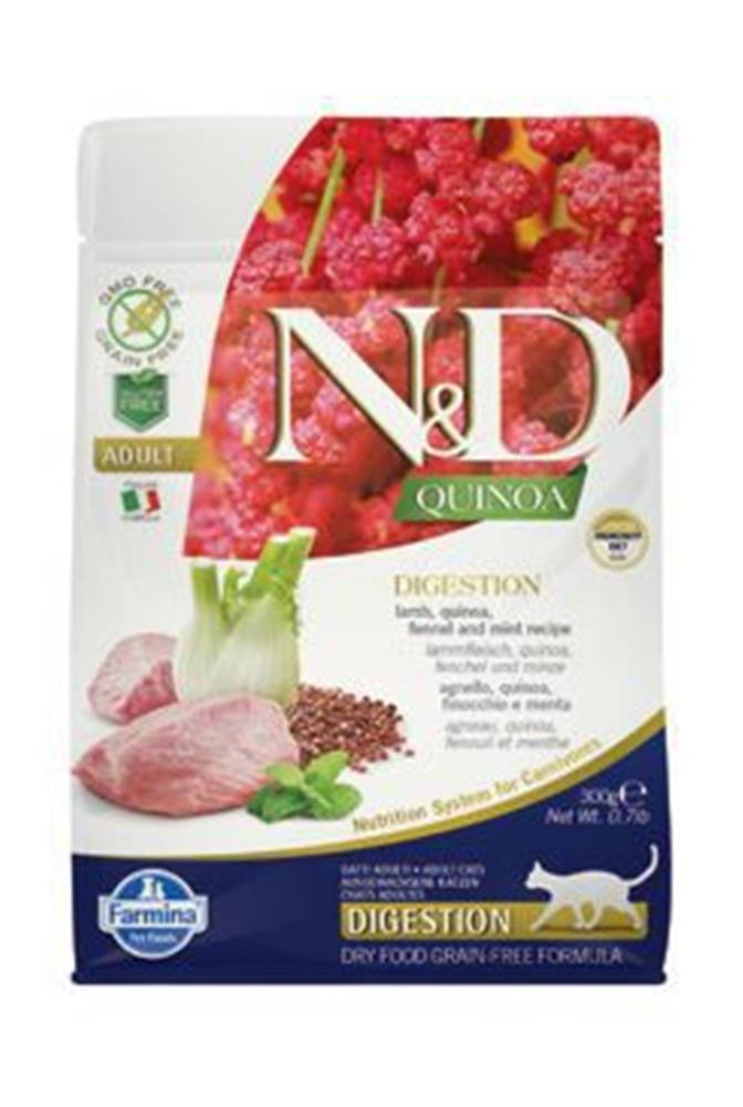 N&D N&D GF Quinoa CAT Digestion Lamb & Fennel 300g
