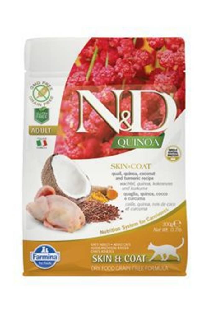 N&D N&D GF Quinoa CAT Skin&Coat Quail & Coconut 300g