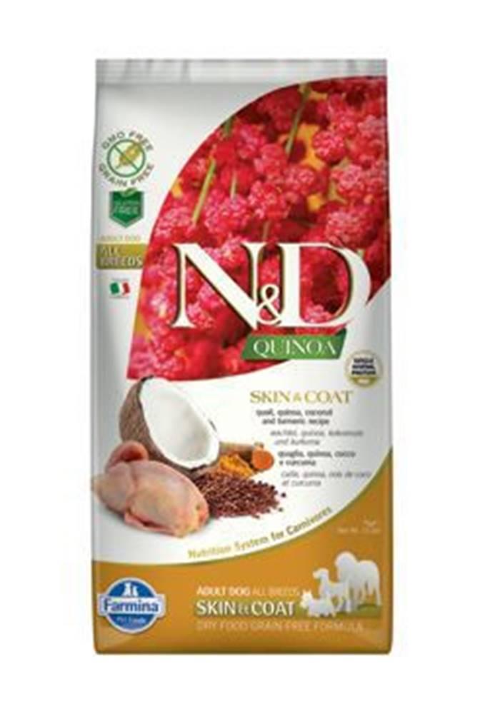 N&D N&D GF Quinoa DOG Skin&Coat Quail & Coconut 7kg