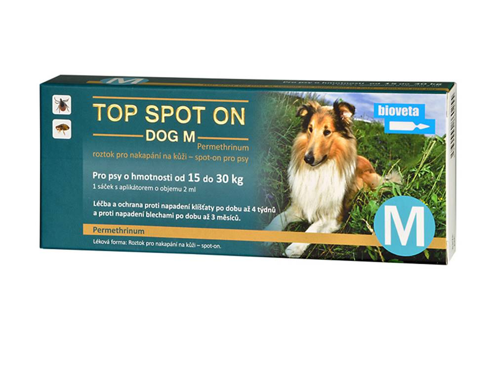 Bioveta Top spot on Dog M 1x2ml (15- 30kg)