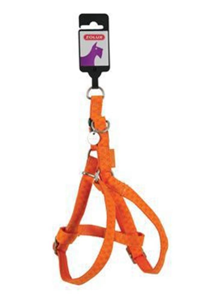 Zolux Postroj pes MAC LEATHER oranžová 10mm Zolux