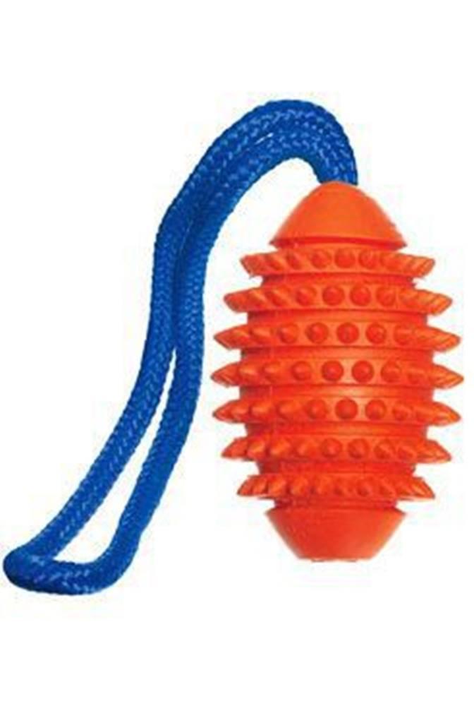 Karlie FLAMINGO Hračka pes Míč šišatý gumový s provazem 32cm KAR