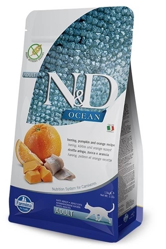 N&D (Farmina Pet Foods) N&D OCEAN CAT GF Adult Herring, Pumpkin & Orange 5kg