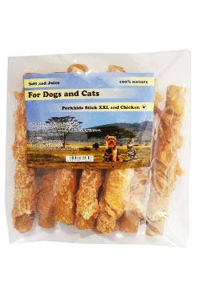 For Dogs and Cats Pochoutka Rolka z vepř. kůže s kuřecím masem 16cm 450g