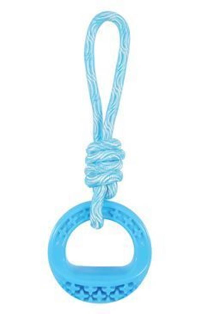 Zolux Hračka pes TPR SAMBA krúžok s lanom modrá Zolux