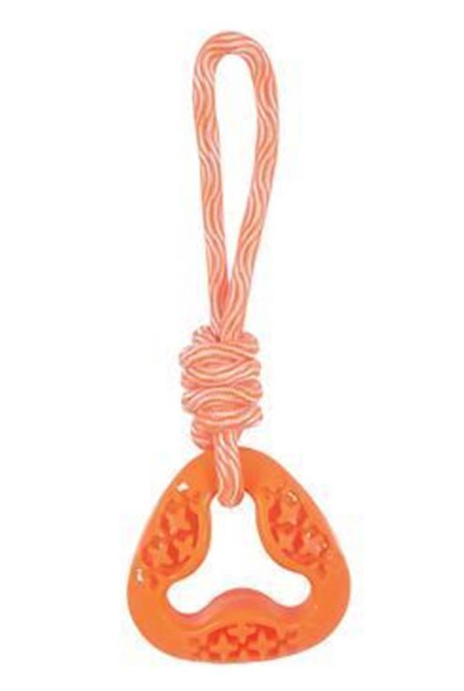 Zolux Hračka pes TPR SAMBA trojuholník s lanom oranžová Zolu