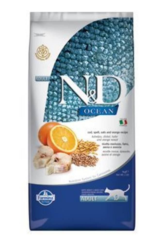 N&D (Farmina Pet Foods) N&D OCEAN CAT LG Adult Codfish & Orange 10kg