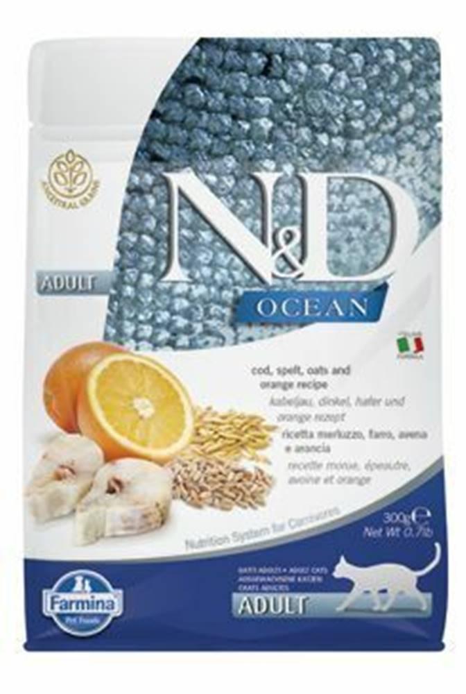 N&D (Farmina Pet Foods) N&D OCEAN CAT LG Adult Codfish & Orange 300g