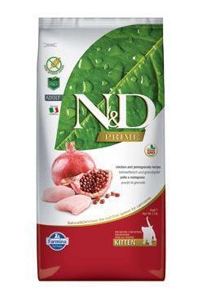 N&D (Farmina Pet Foods) N&D PRIME CAT KITTEN Chicken & Pomegranate 10kg