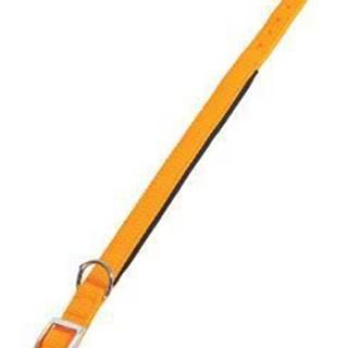 Obojok pes SOFT NYLON oranžový 25mm / 65cm Zolux