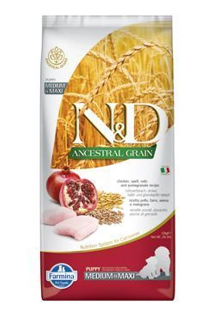 N&D (Farmina Pet Foods) N&D LG DOG Puppy M/L Chicken & Pomegranate 12kg