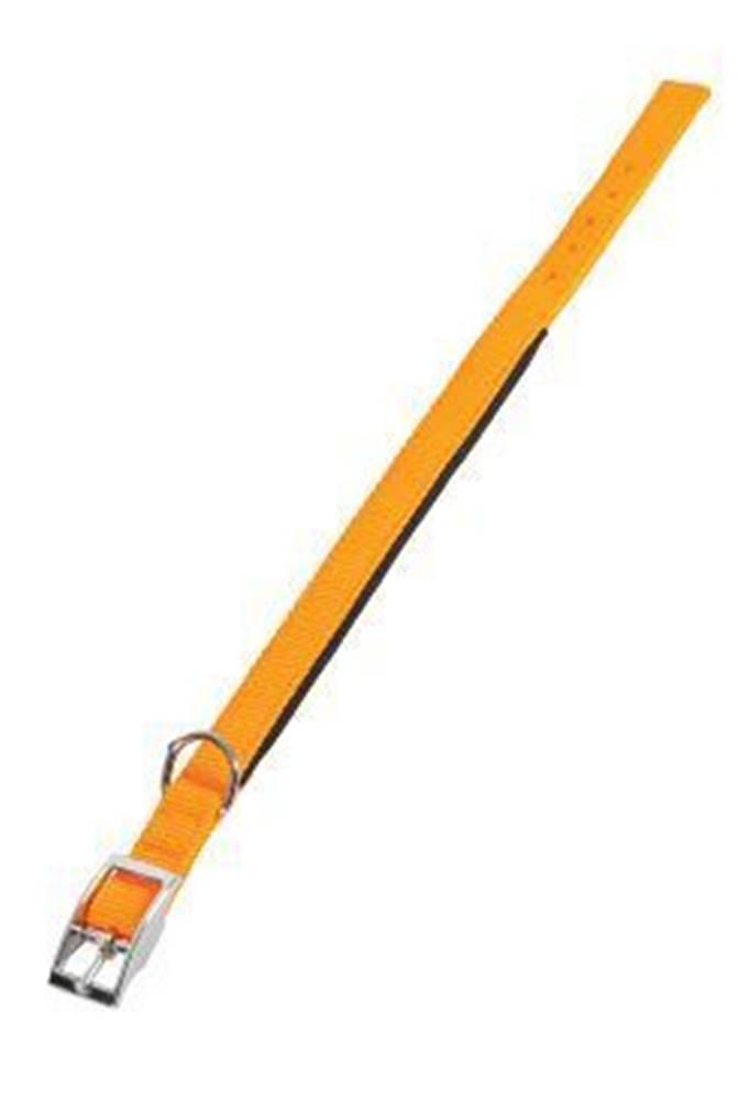Zolux Obojok pes SOFT NYLON oranžový 25mm / 50cm Zolux