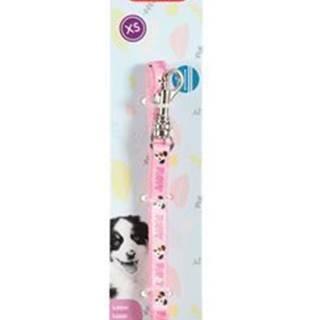 Obojok pes šteňa MASCOTTE nastaviteľný ružový 13mm Zol