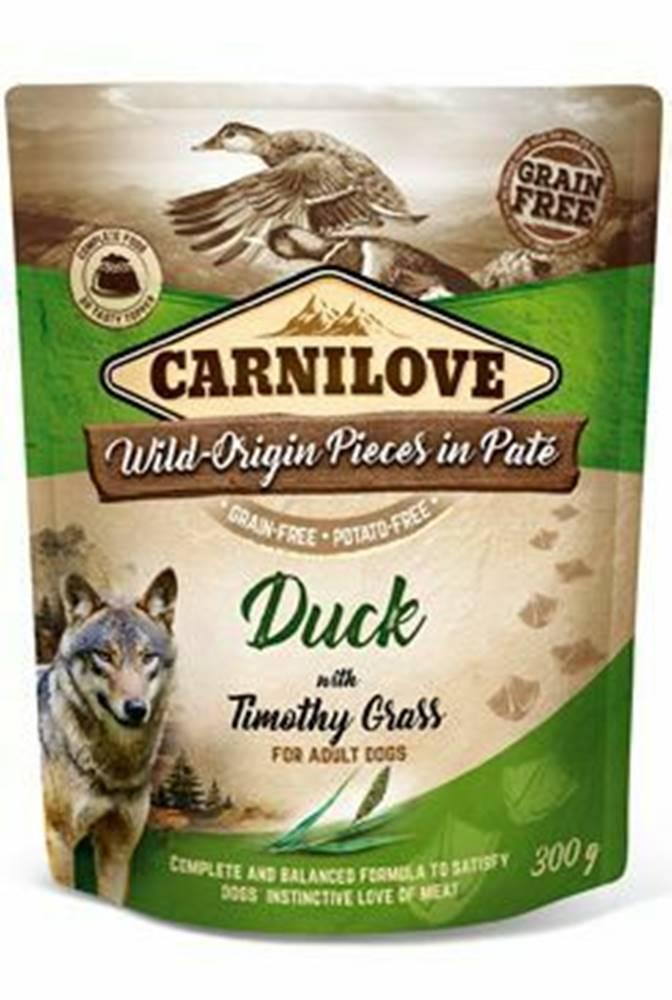 Carnilove Carnilove Dog Pouch Paté Duck & Timothz Grass 300g