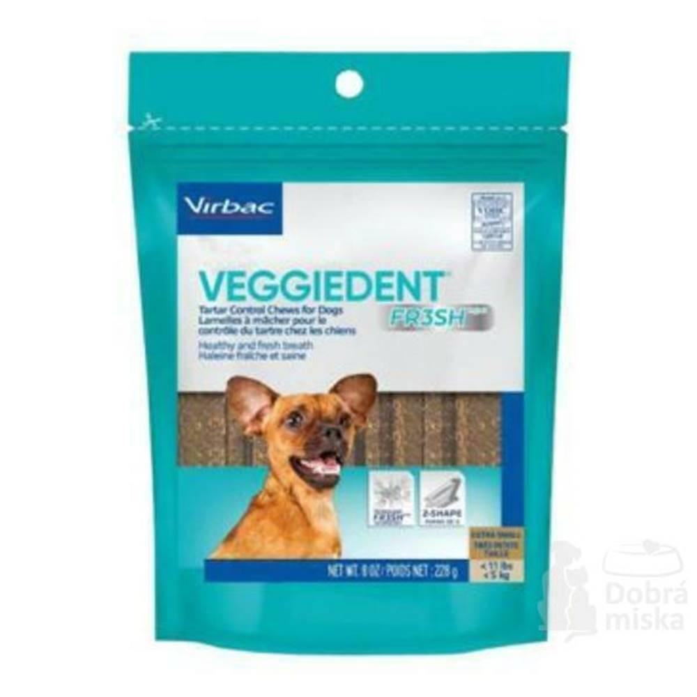 Virbac C.E.T.pes Žuvacie plátky Veggiedent NEW XS 15ks