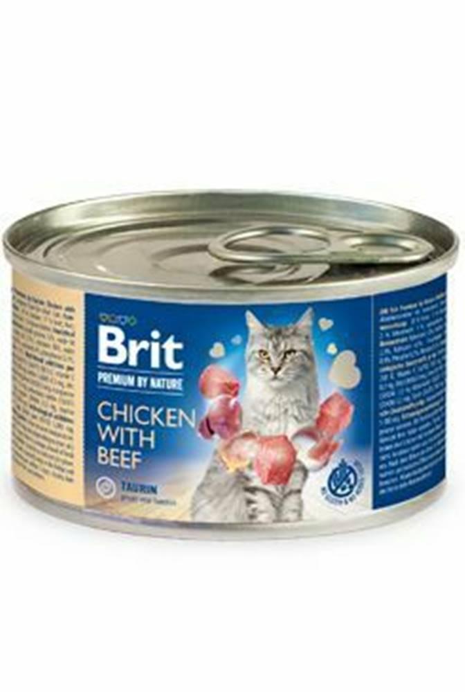 Brit Premium Brit Premium Cat by Nature konz Chicken&Beef 200g