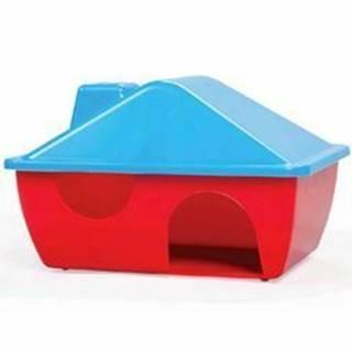Domček pre hlodavce plastový s tvarovanou strechou A009