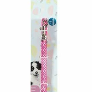 Vodítko pes šteňa PIXIE ružová 8mm 1,2m Zolux
